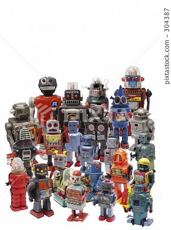 large quantity, robot, tin plate 304387