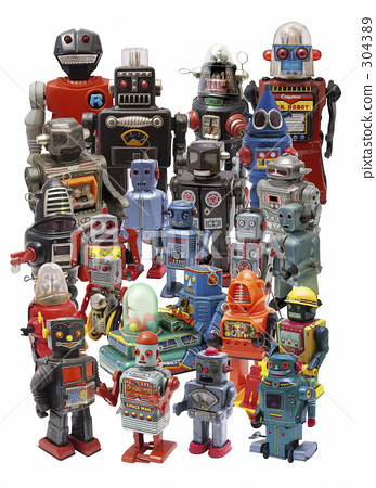 많다, 대량, 로봇 304389