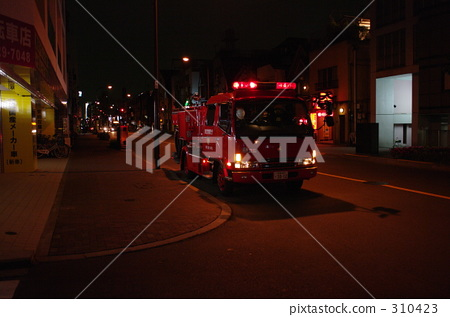 Stock Photo: beware of fire, watch out for fire, ambulance
