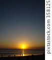 kuta beach, bali, orange 358125