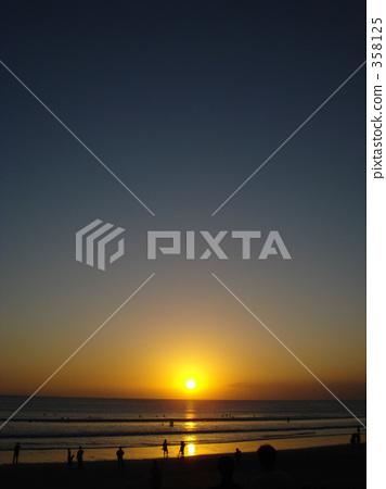 庫塔海灘 巴厘島 橙色 358125