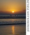 kuta beach, bali, orange 358126