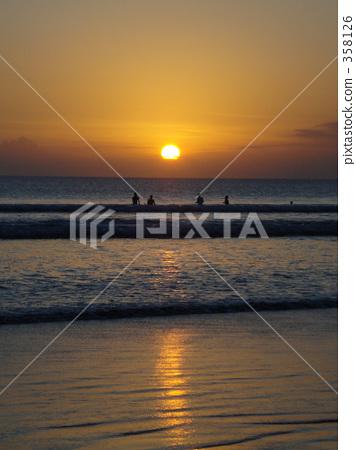 庫塔海灘 巴厘島 橙色 358126