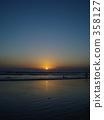 kuta beach, bali, orange 358127