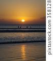 kuta beach, bali, orange 358128