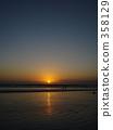kuta beach, bali, orange 358129
