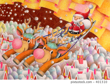 ซานต้า,กวางเรนเดียร์,คริสต์มาส 401310
