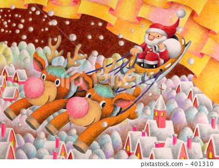 christmas eve, santum, reindeer 401310