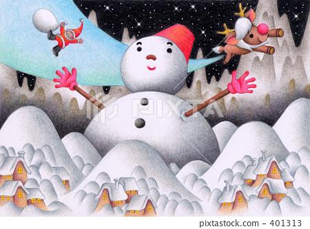 ซานต้า,คริสต์มาส,ดินสอสี 401313
