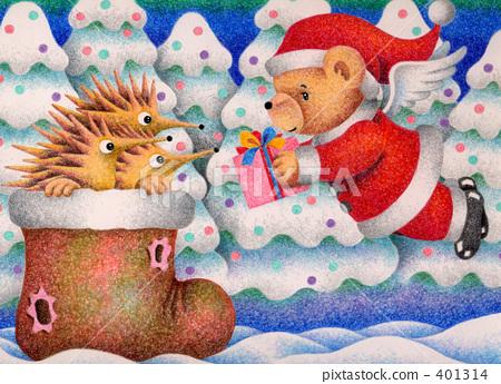 ซานต้า,คริสต์มาส,ดินสอสี 401314