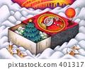 箱の中のクリスマスツリー 401317