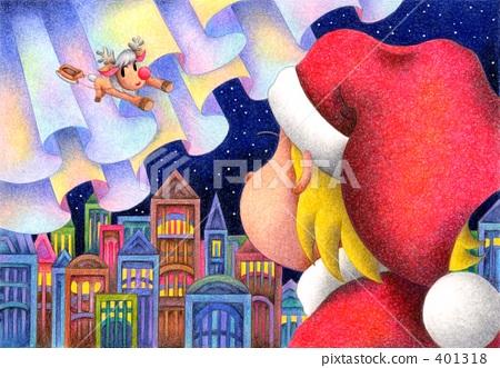 크리스마스, 산타, 순록 401318