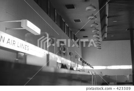 Haneda Airport in the late night Showa 48 423389