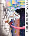 建物イラスト「雪国の塔」 429181