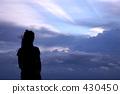 여성, 구름, 여자 430450