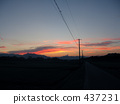 Electric wire of sunset 437231