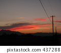 Sunset and electric wire 437288
