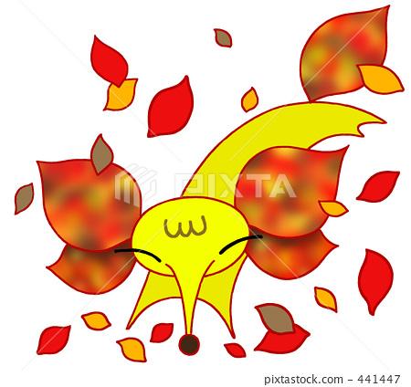illustration, fox, autumn leafe 441447