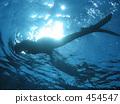 스노클링 수중 454547