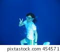 스노클링 수중 조각 454571