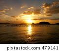 나가사키 港外의 석양 479141