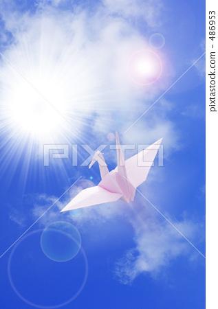 크레인과 푸른 하늘 486953