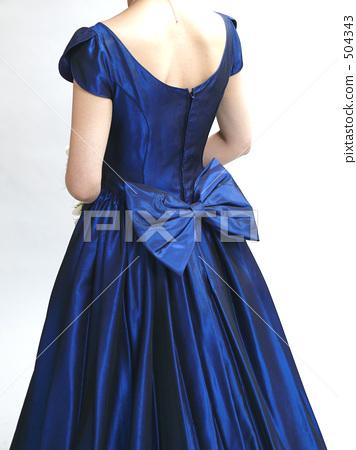 드레스 뒷모습 (파랑) 504343