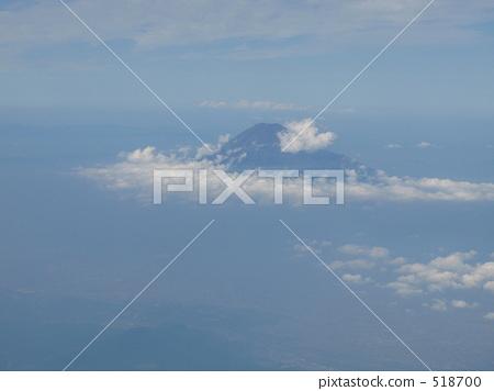 富士山 風景 飛機 518700