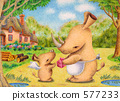 ภาพประกอบสัตว์ - ผู้ปกครองและลูกของแรด 1 577233