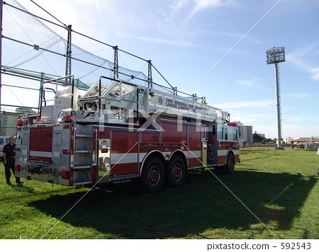 Stock Photo: firetruck, fire-engine, yokosuka