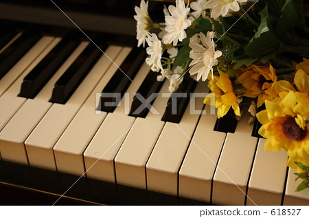 Piano and flower 2 618527