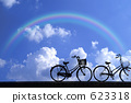 Summer sky and bicycle 623318