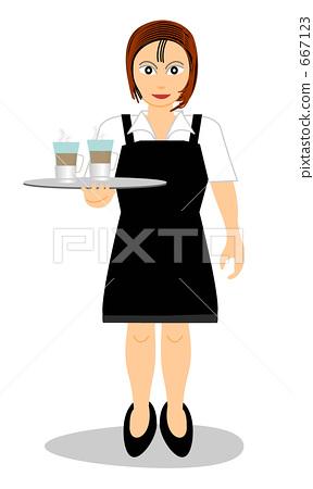 Cafe clerk 667123