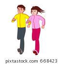 쌍으로 달리기 668423