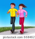 쌍 달리기 (배경 수) 668462
