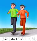 쌍 달리기 (배경 수) 668794