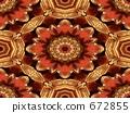 Red and golden interlocking 672855