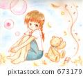 ผู้หญิงกับตุ๊กตาหมี 673179