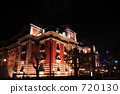 osaka central public hall, night scape, night scene 720130