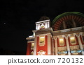 osaka central public hall, night scape, night scene 720132