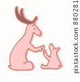 鹿 家庭 家族 880281