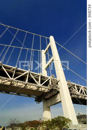shimotsuiseto ohashi bridge, great seto bridge, Seto Inland Sea 908734