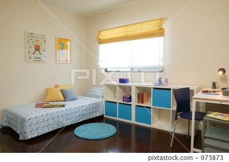 아이 방, 침대, 책상 975873
