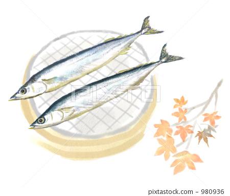 생선 구이, 꽁치, 가을의 미각 980936