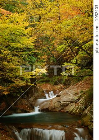 니시자와 계곡 삼중의 폭포 1032403