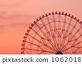 ferris wheel, sunset, sky 1062018