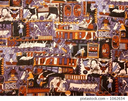 고대 이집트의 벽화를 모티브로 한 천 1062634