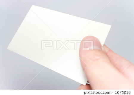 Hand holding business cards 1075816
