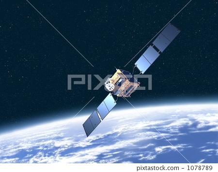 Telecommunication satellite, communication satellite, Artificial Satellite 1078789