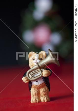 cat, pussy, brass instrument 1098262